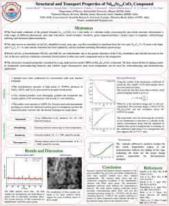 Structural and Transport Properties of Nd Sr CoO ...