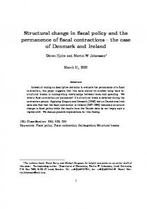 Structural change in fiscal policy and the permanence of fiscal ...