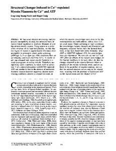 Structural Changes Induced in Ca:+-regulated ... - BioMedSearch