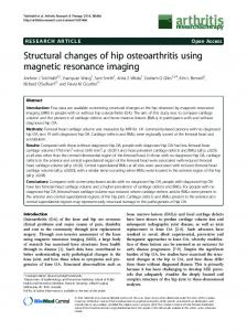 Structural changes of hip osteoarthritis using magnetic ... - Springer Link