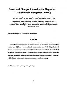 Structural Changes Related to the Magnetic Transitions in ... - arXiv