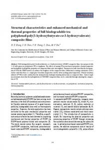 Structural characteristics and enhanced mechanical and thermal ...