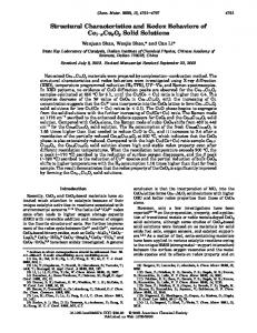 Structural Characteristics and Redox Behaviors of Ce1-xCuxOy Solid ...