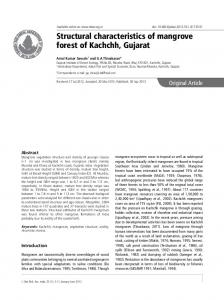 Structural characteristics of mangrove forest of Kachchh, Gujarat
