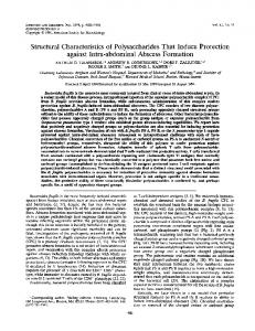 Structural Characteristics of Polysaccharides That ... - Europe PMC