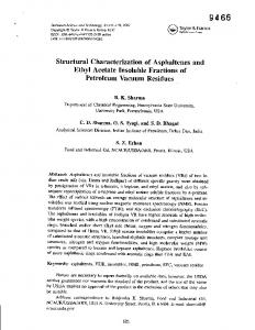 Structural Characterization of Asphaltenes and ... - Semantic Scholar