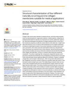 Structural characterization of four different naturally occurring ... - Plos