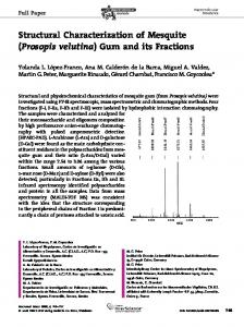 Structural Characterization of Mesquite ... - Wiley Online Library