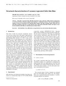 Structural characterization of vacuum evaporated ZnSe thin films