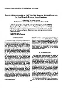 Structural Characterization of ZnO Thin Film Grown on Si-Based ...