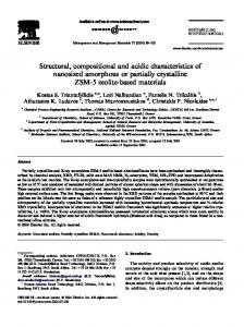 Structural, compositional and acidic characteristics of nanosized