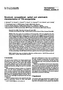 Structural, compositional, optical and colorimetric characterization of ...