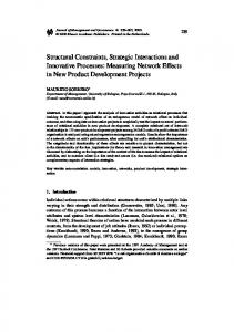 Structural Constraints, Strategic Interactions and ... - Springer Link