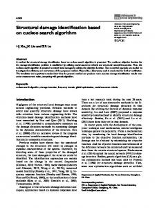 Structural damage identification based on cuckoo search algorithm