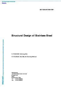 Structural Design of Stainless Steel - British Stainless Steel ...