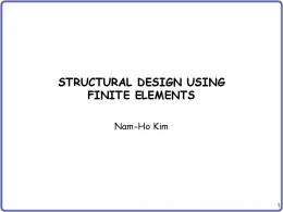 STRUCTURAL DESIGN USING FINITE ELEMENTS