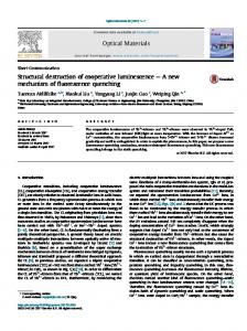 Structural destruction of cooperative luminescence - A