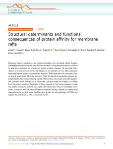 Structural determinants and functional consequences of ... - Nature