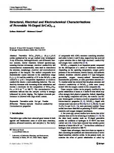 Structural, Electrical and Electrochemical