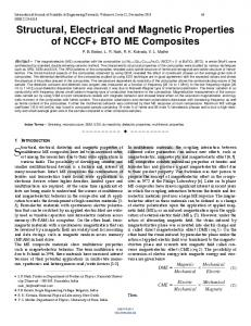 Structural, Electrical and Magnetic Properties of NCCF+ BTO ME ...