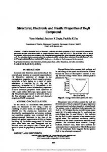 Structural, Electronic and Elastic Properties of Be2B ...