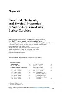 Structural, Electronic, and Physical Properties of Solid