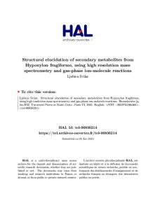 Structural elucidation of secondary metabolites from Hypoxylon ...