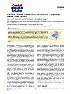 Structural Evidence of Perfluorooctane Sulfonate ... - ACS Publications