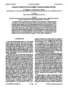 Structural evolution and thermal stability of deuterated titanium thin films