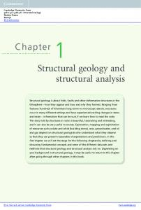 Structural geology and structural analysis - Assets - Cambridge ...