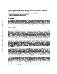 Structural identifiability of viscoelastic mechanical systems