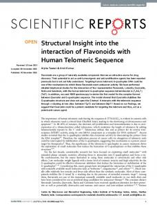 Structural Insight into the interaction of Flavonoids ... - Semantic Scholar