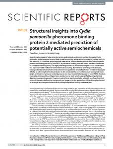 Structural insights into Cydia pomonella ... - Semantic Scholar