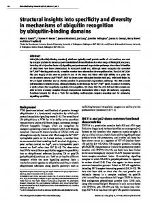 Structural insights into specificity and diversity in ... - Semantic Scholar