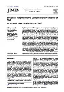 Structural Insights into the Conformational Variability of FtsZ - CiteSeerX
