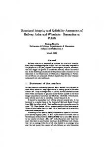 Structural Integrity and Reliability Assessment of Railway Axles and