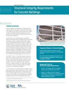 Structural Integrity Requirements for Concrete ... - StructurePoint