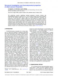 Structural investigation and thermodynamical properties of alkali ... - UiO