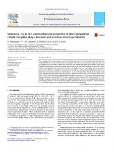 Structural, magnetic, and mechanical properties of ... - CiteSeerX