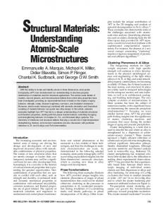 Structural Materials: Understanding Atomic-Scale