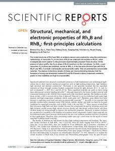 Structural, mechanical, and electronic properties of