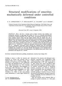 Structural modifications of smectites mechanically ... - CiteSeerX