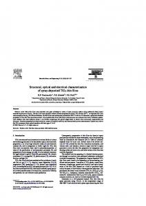 Structural, optical and electrical characterization of