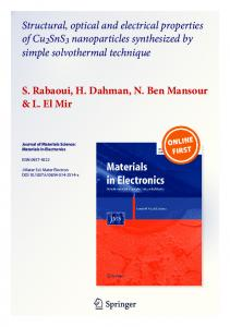 Structural, optical and electrical properties of ...
