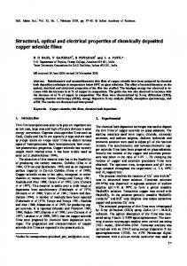 Structural, optical and electrical properties of ... - Springer Link