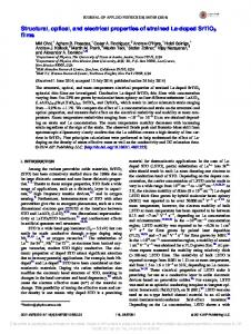 Structural, optical, and electrical properties of strained La-doped ...
