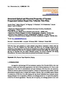 Structural Optical and Electrical Properties of Vacuum Evaporated ...