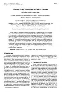 Structural, Optical, Morphological and Dielectric Properties of Cerium ...
