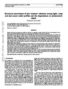 Structural parameters of star clusters: relations among light, mass and ...