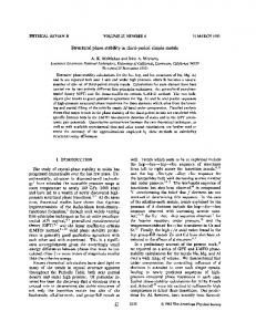 Structural phase stability in third-period simple ... - APS Link Manager